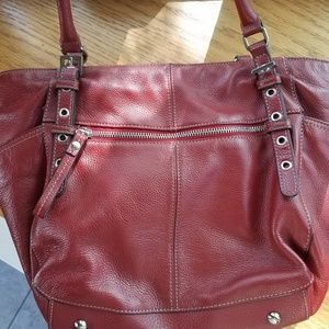 Tianello handbag red leather